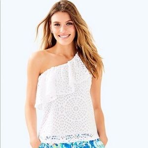 NWT Lilly Pulitzer Matteo sea urchin terry lace